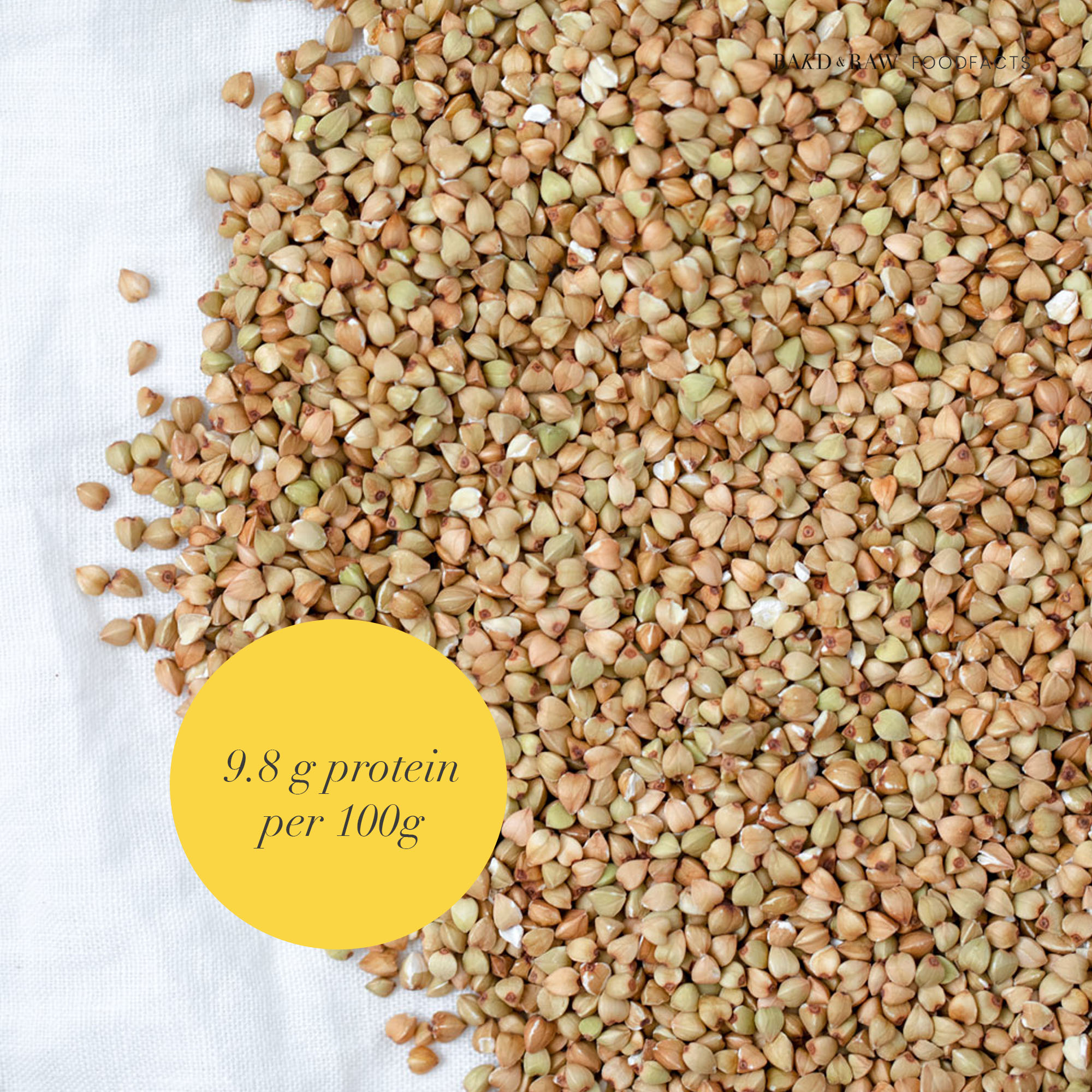 Buckwheat; Protein Guide by Bakd&Raw