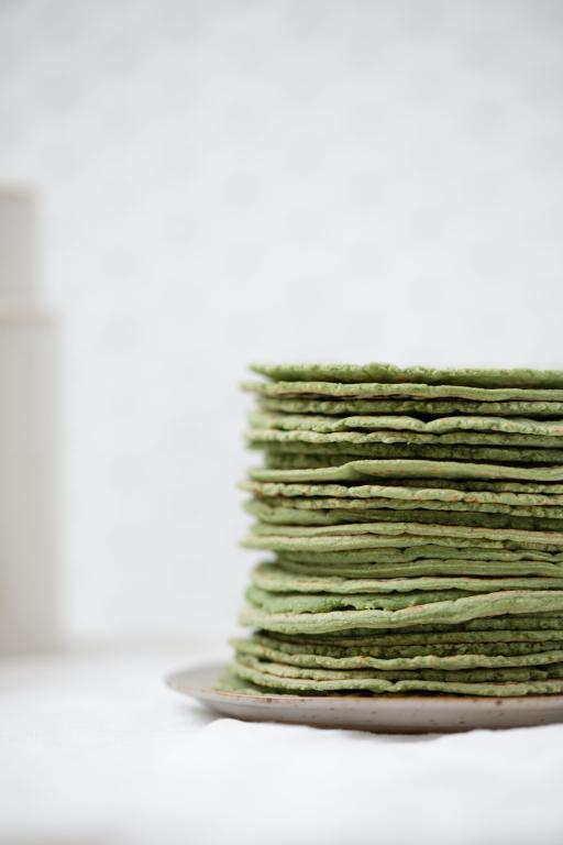 Authentic Mexican Corn Tortillas with Spirulina