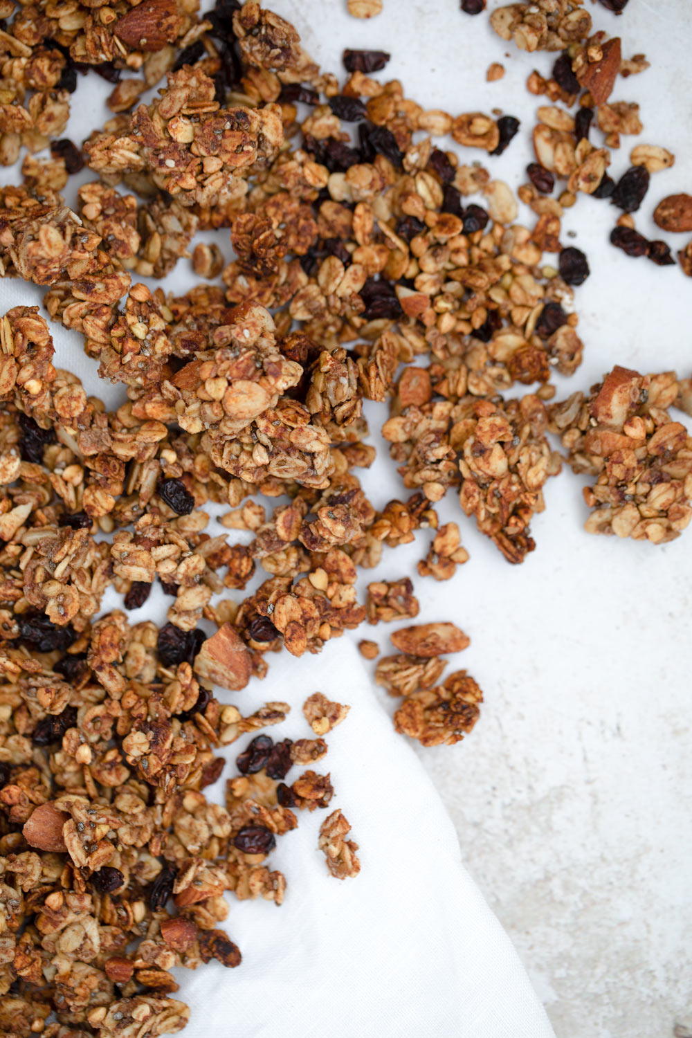 Vegan Granola, naturally sweetened Granola with dried fruits