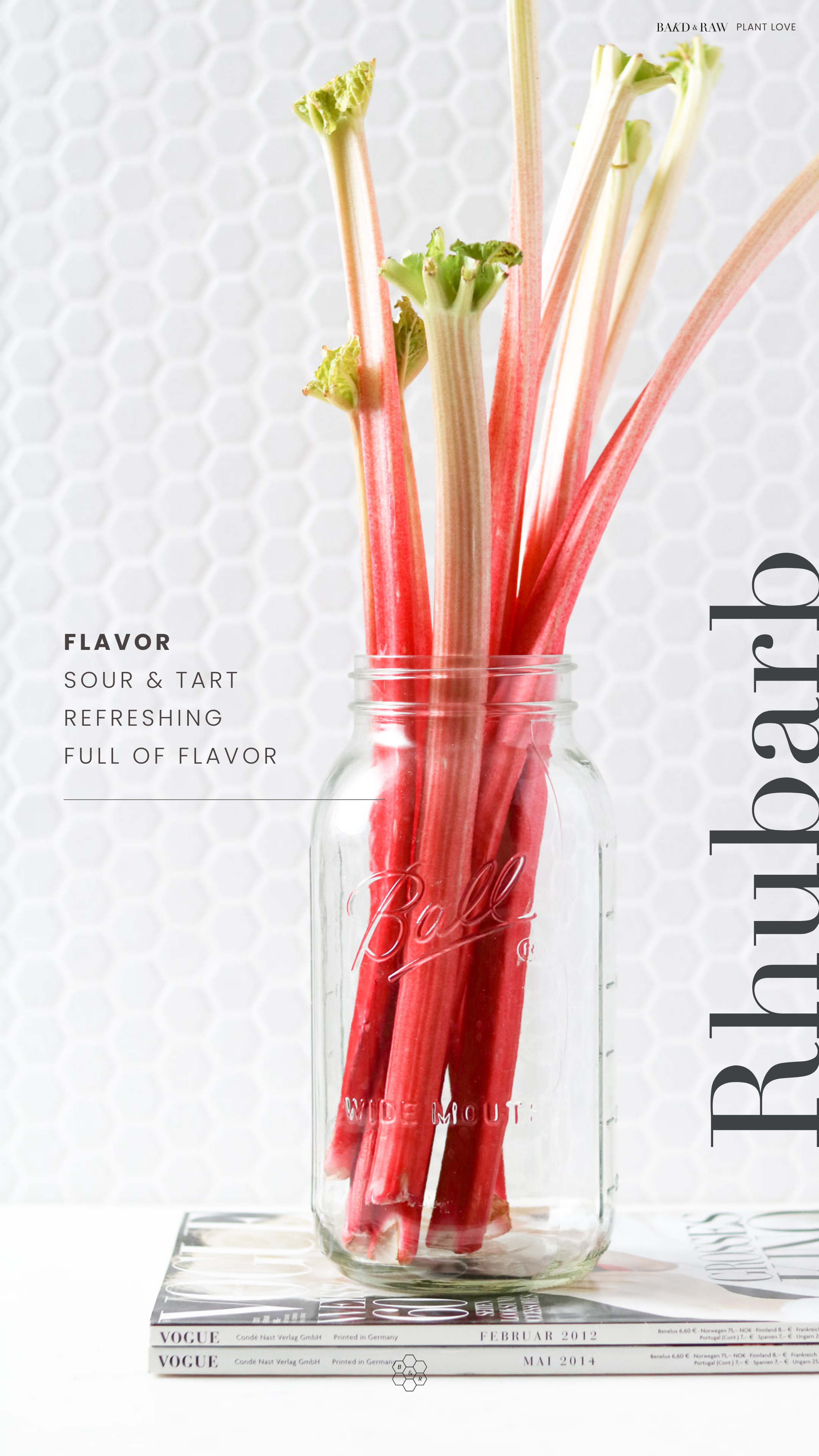 How Rhubarb Tastes by Bakd&Raw, Karolin Baitinger
