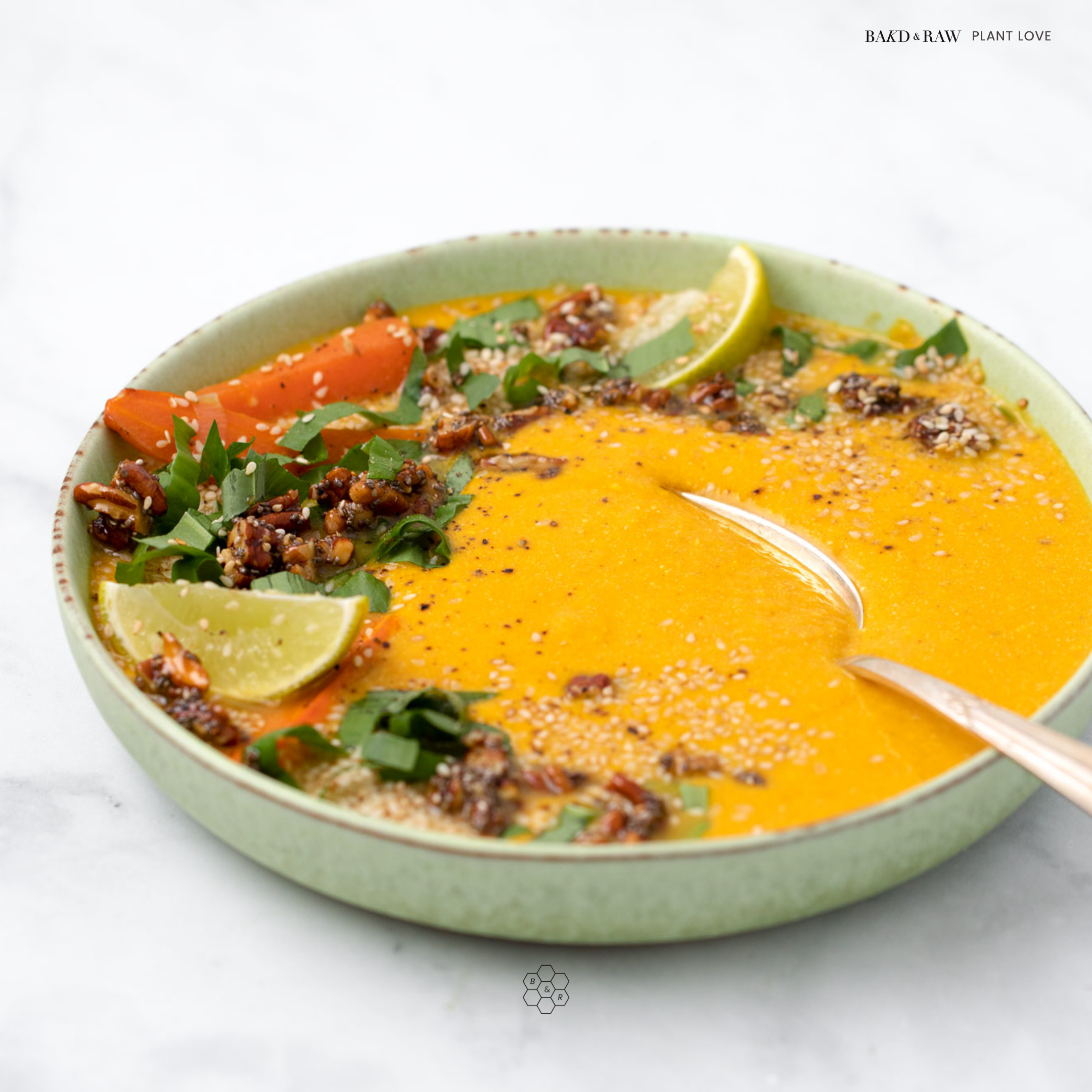 Miso-Carrot Soup with Chia-Pecan Crunch by Bakd&Raw Karolin Baitinger