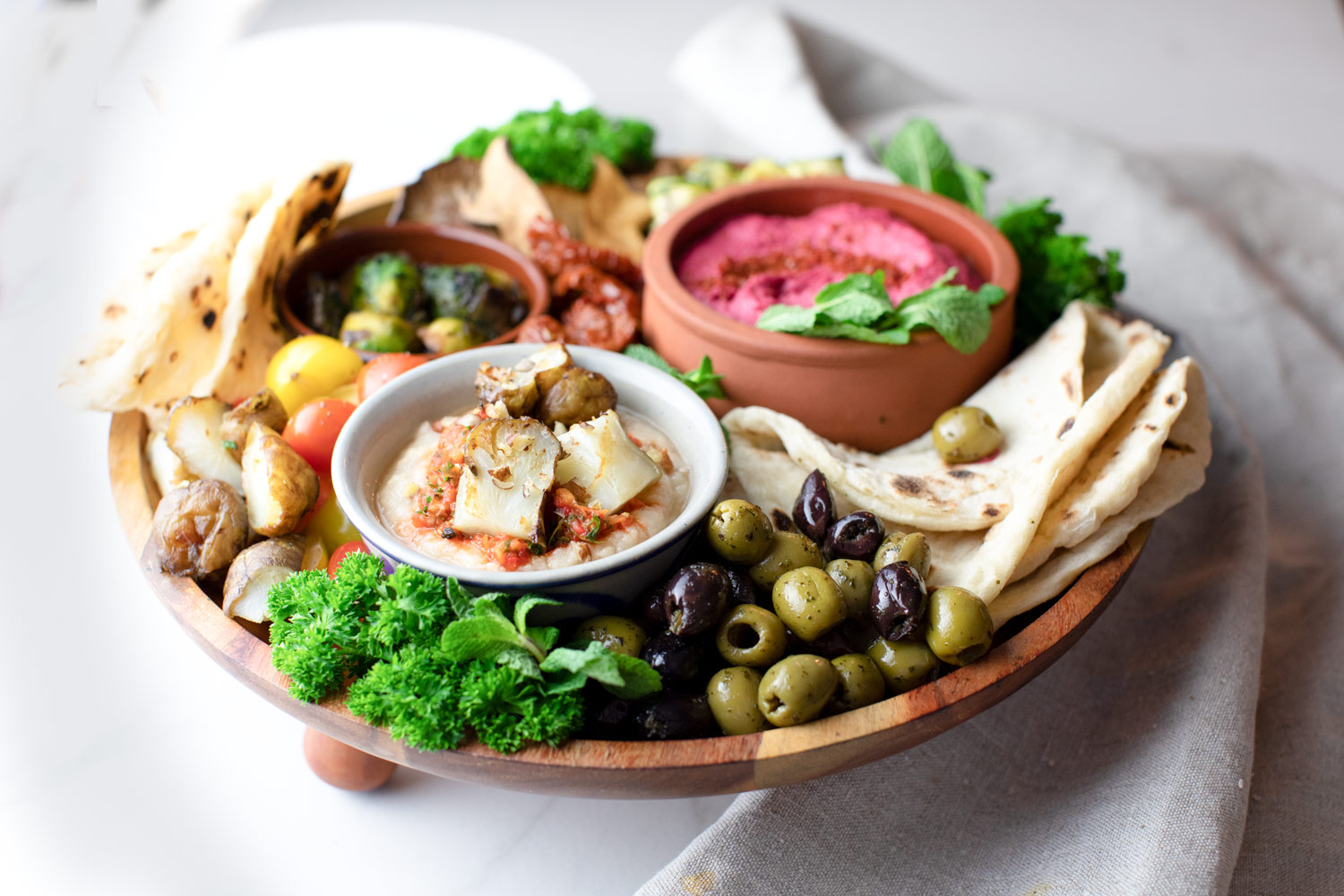 Charcuterie Board with Olives and other antipasti