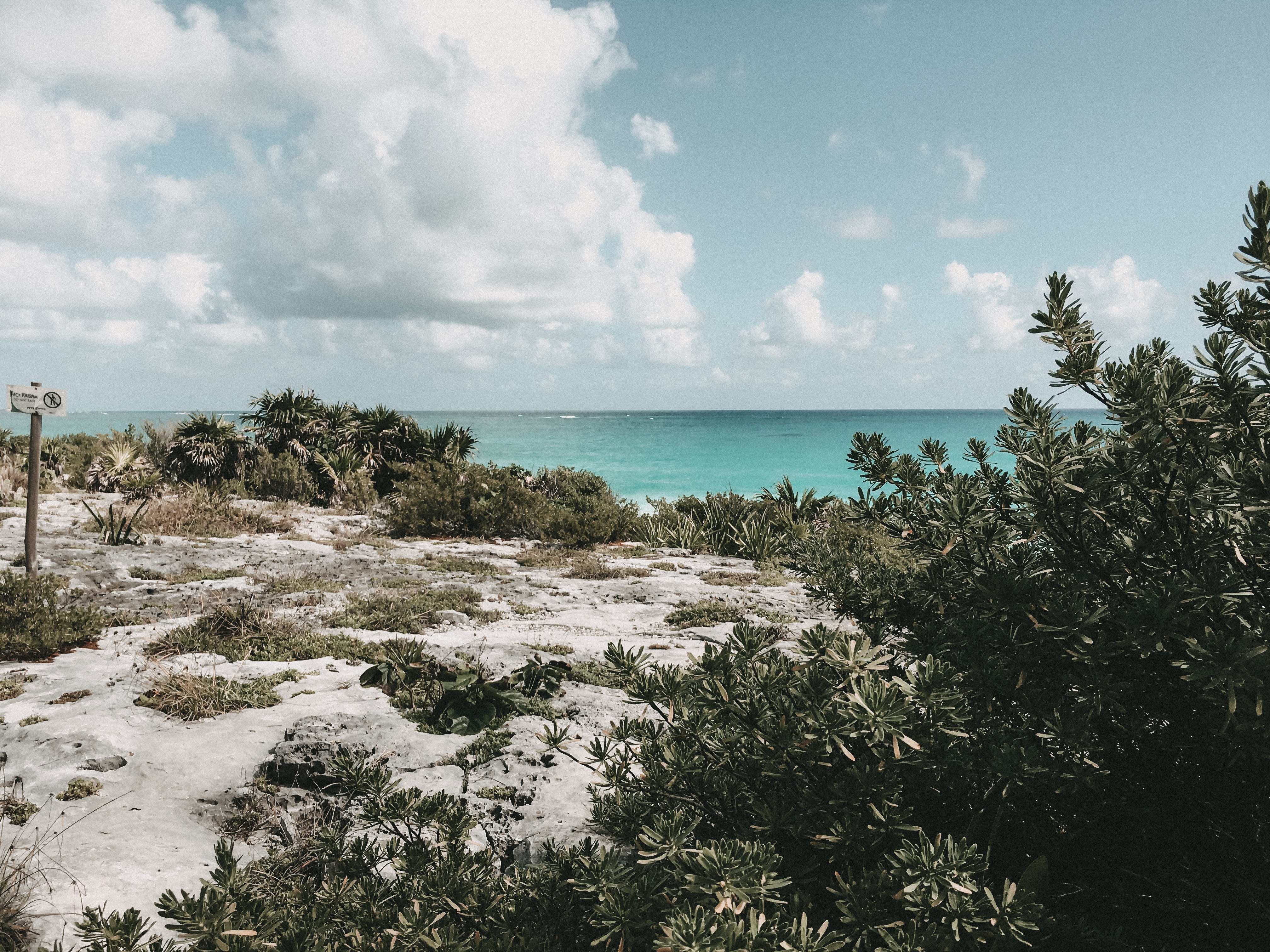 Beautiful Tulum beach strip Mexico