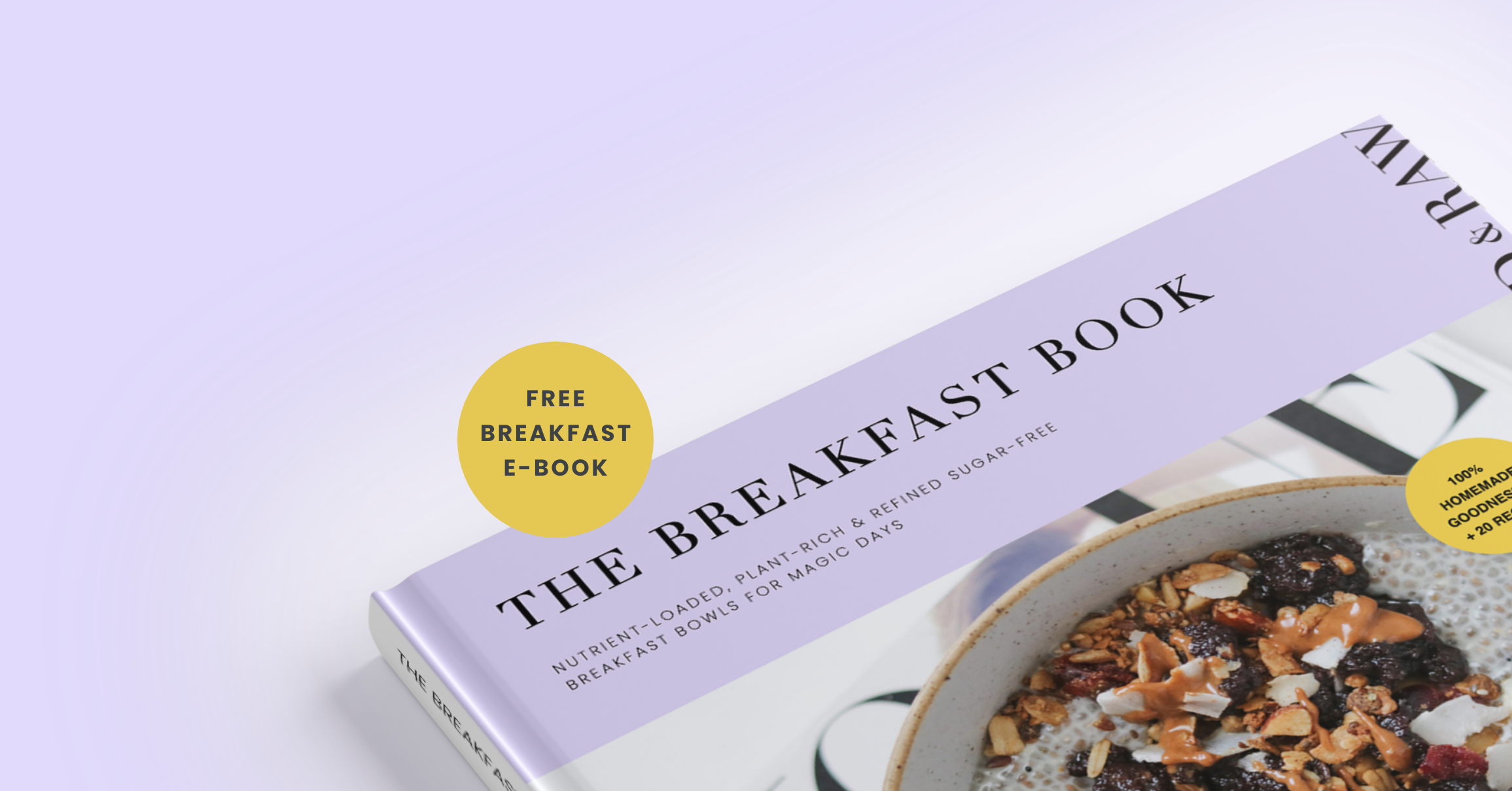 Homemade, nutrient-loaded & refined sugar-free e-book with over 20 recipes