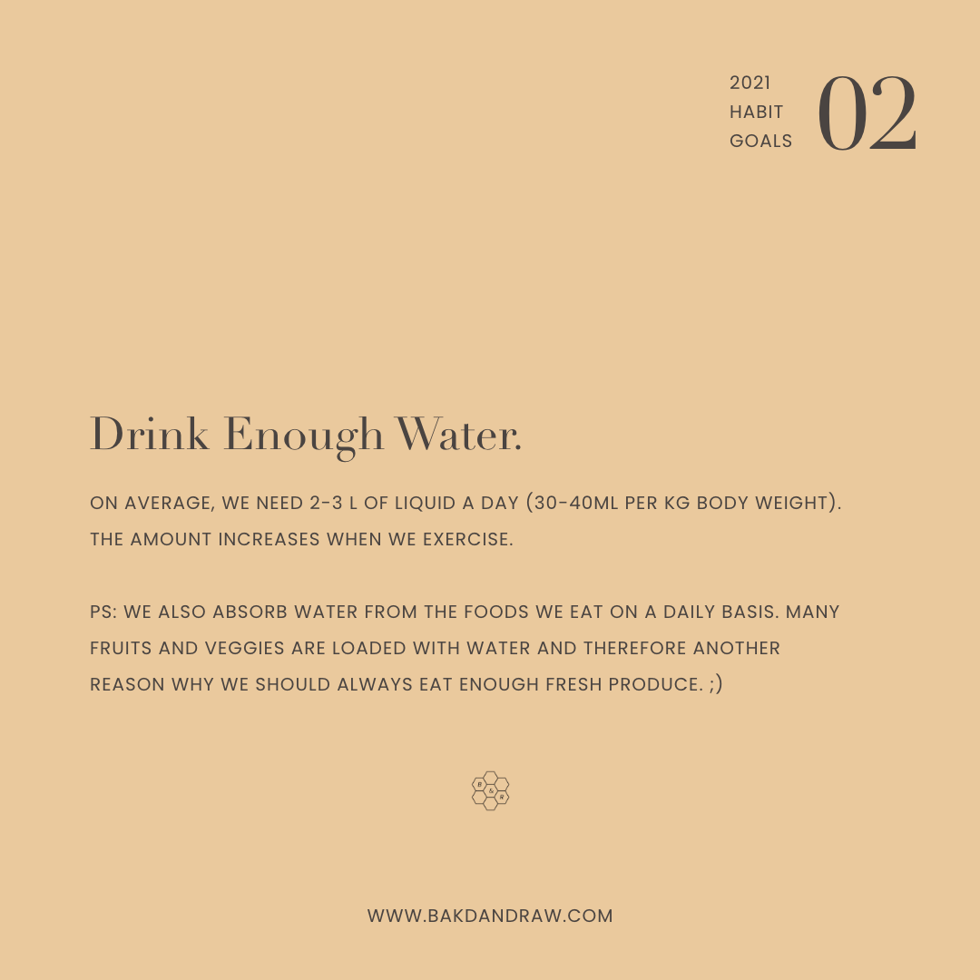 Habit Goal 2: Drink enough water