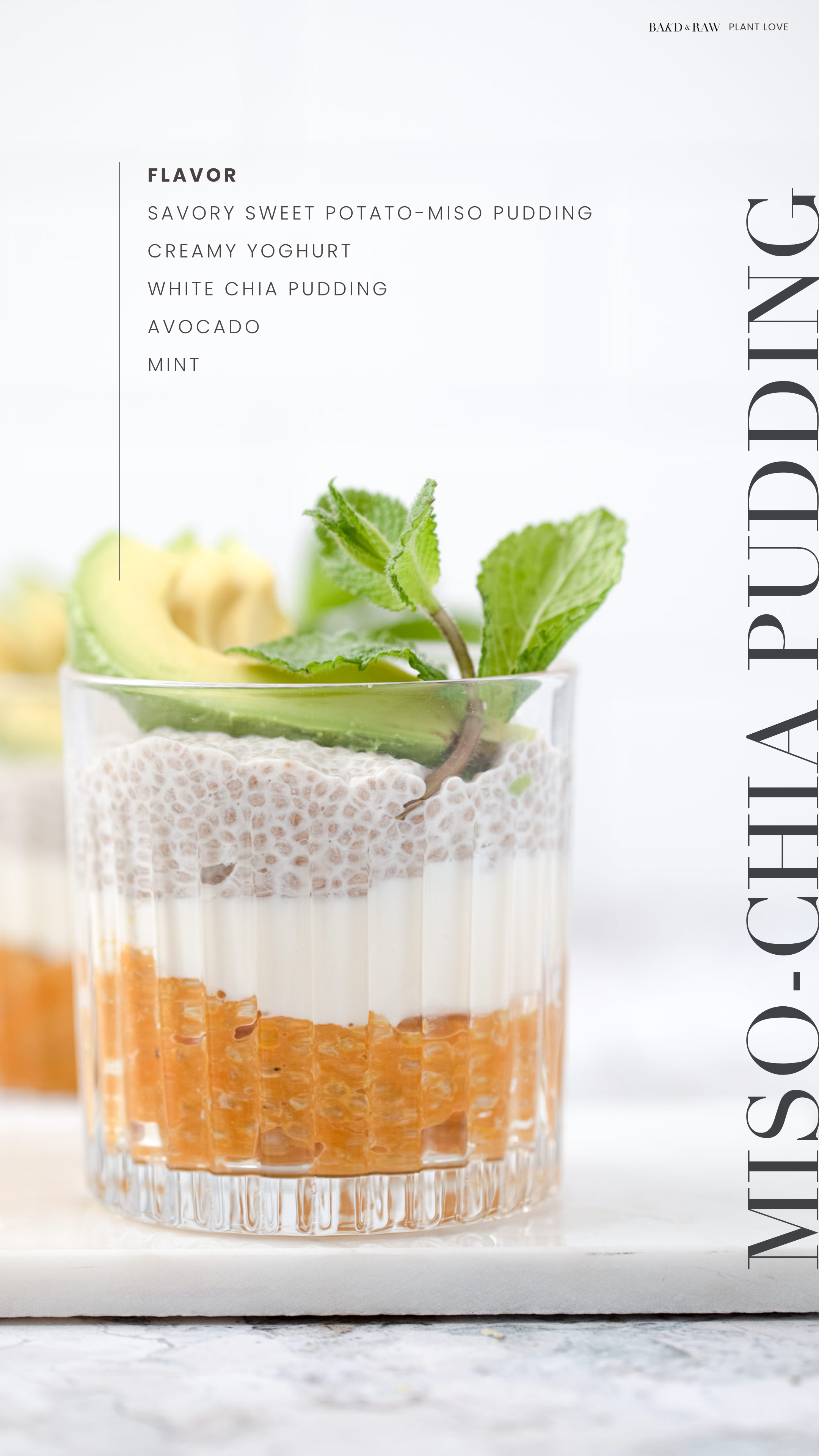 Ingredient List Savory White Chia Pudding by Bakd&Raw
