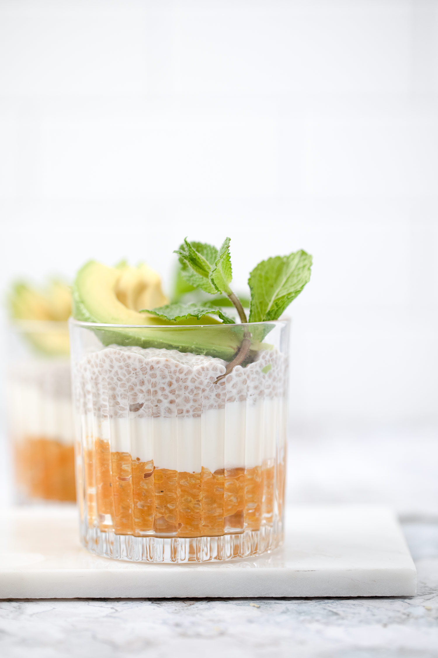 Savory Sweet Potato-Miso Pudding with White Chia Seeds