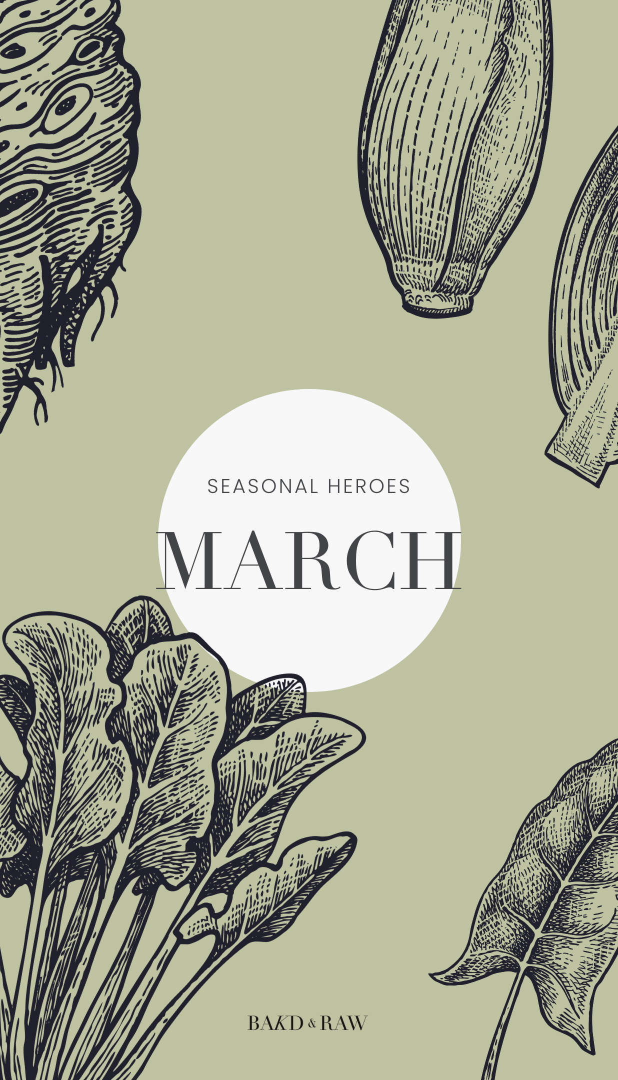 Seasonal Produce March Overview - Saisonkalender Karolin Baitinger