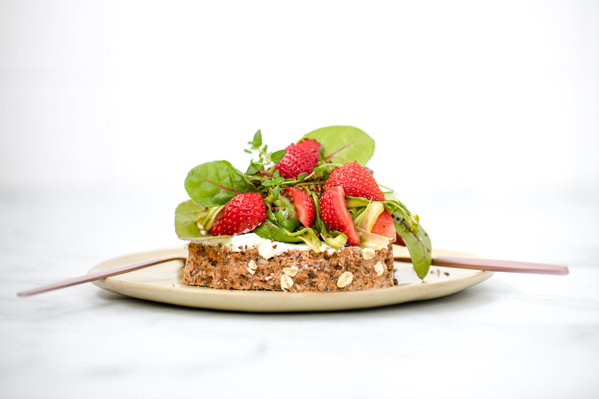 Roasted Asparagus-Strawberry Bread by Bakd&Raw