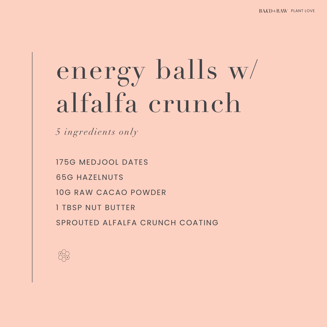 Recipe for super healthy energy balls by Bakd&Raw