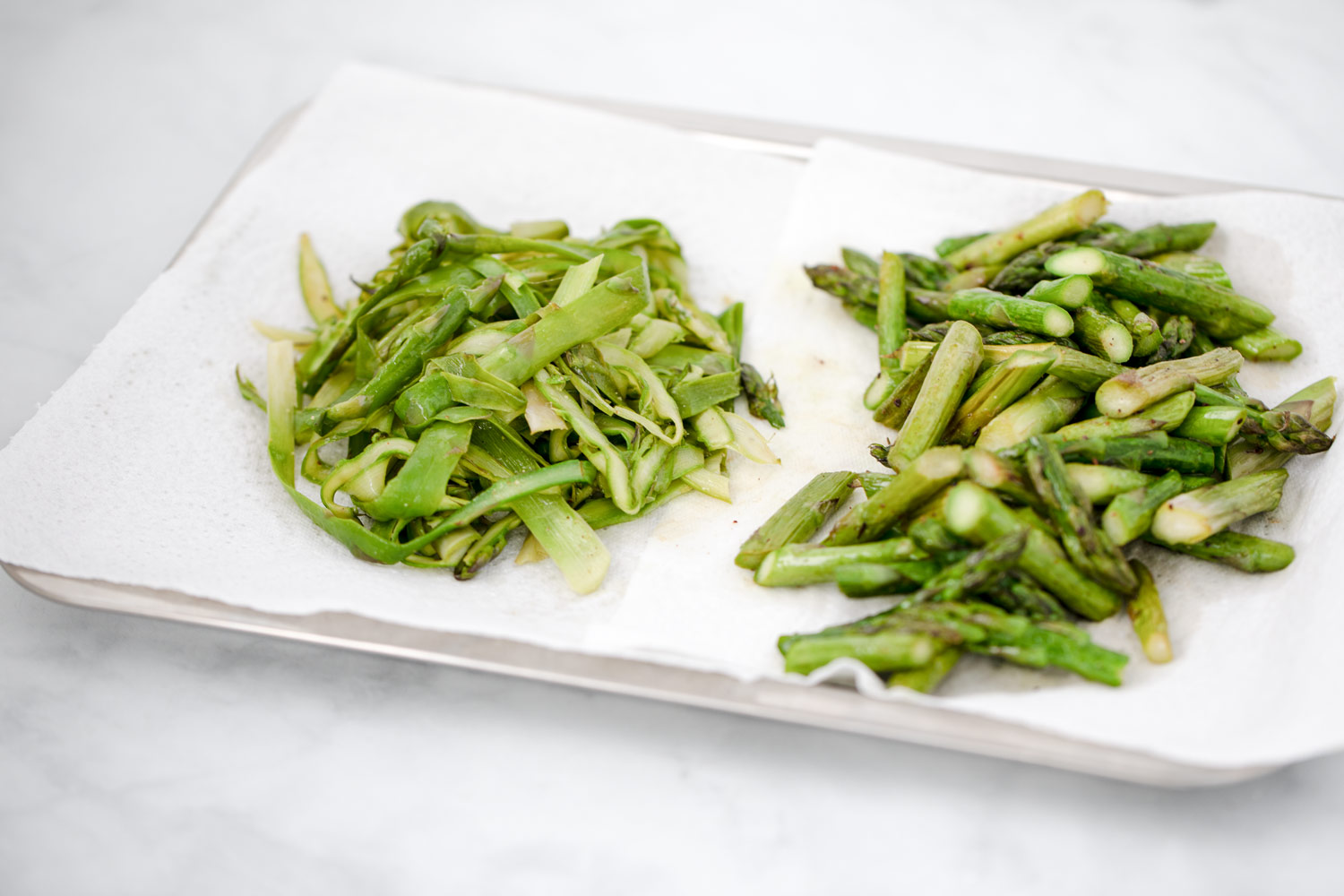 2 ways of roasting green asparagus by Bakd&Raw