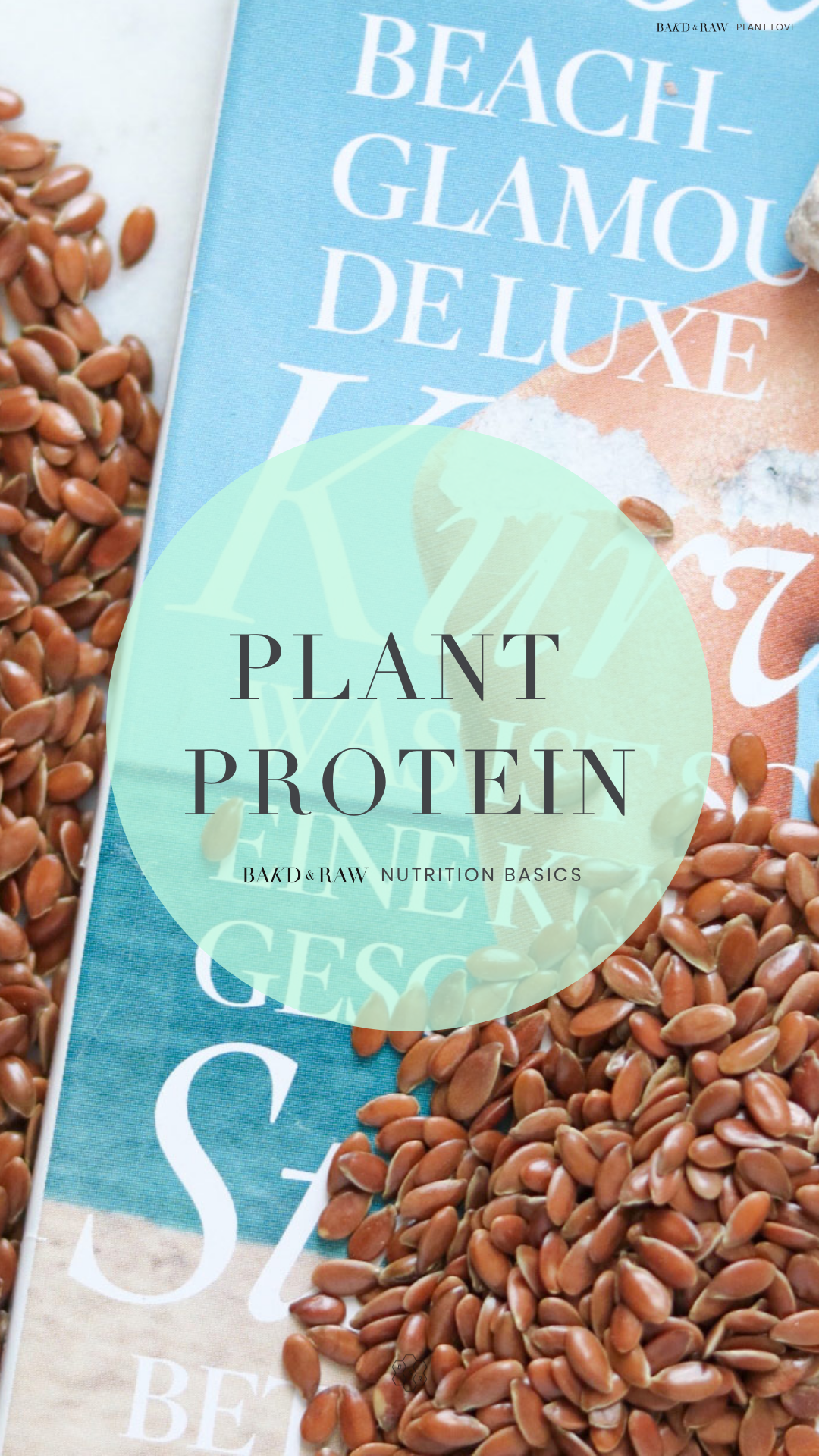 Bakd&Raw Plant Protein Guide; Flax Seeds